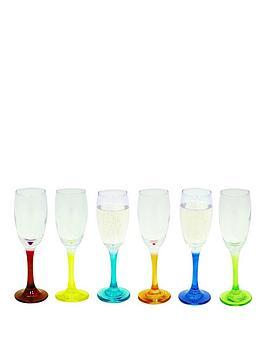 coloured-stem-flute-glasses