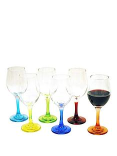 coloured-stem-wine-glasses-6pc