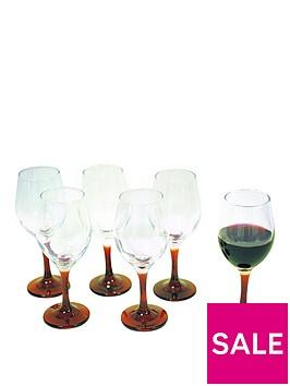 set-of-6-red-stem-wine-glasses