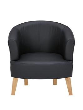 oranbspfauxnbspleather-tub-chair
