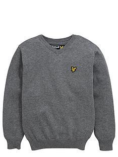 lyle-scott-boys-v-neck-knitted-jumper