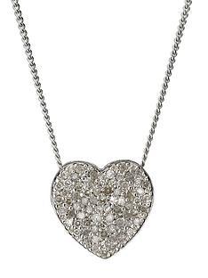 9-carat-white-gold-20pt-diamond-heart-necklace