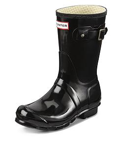 hunter-original-short-gloss-wellies-black