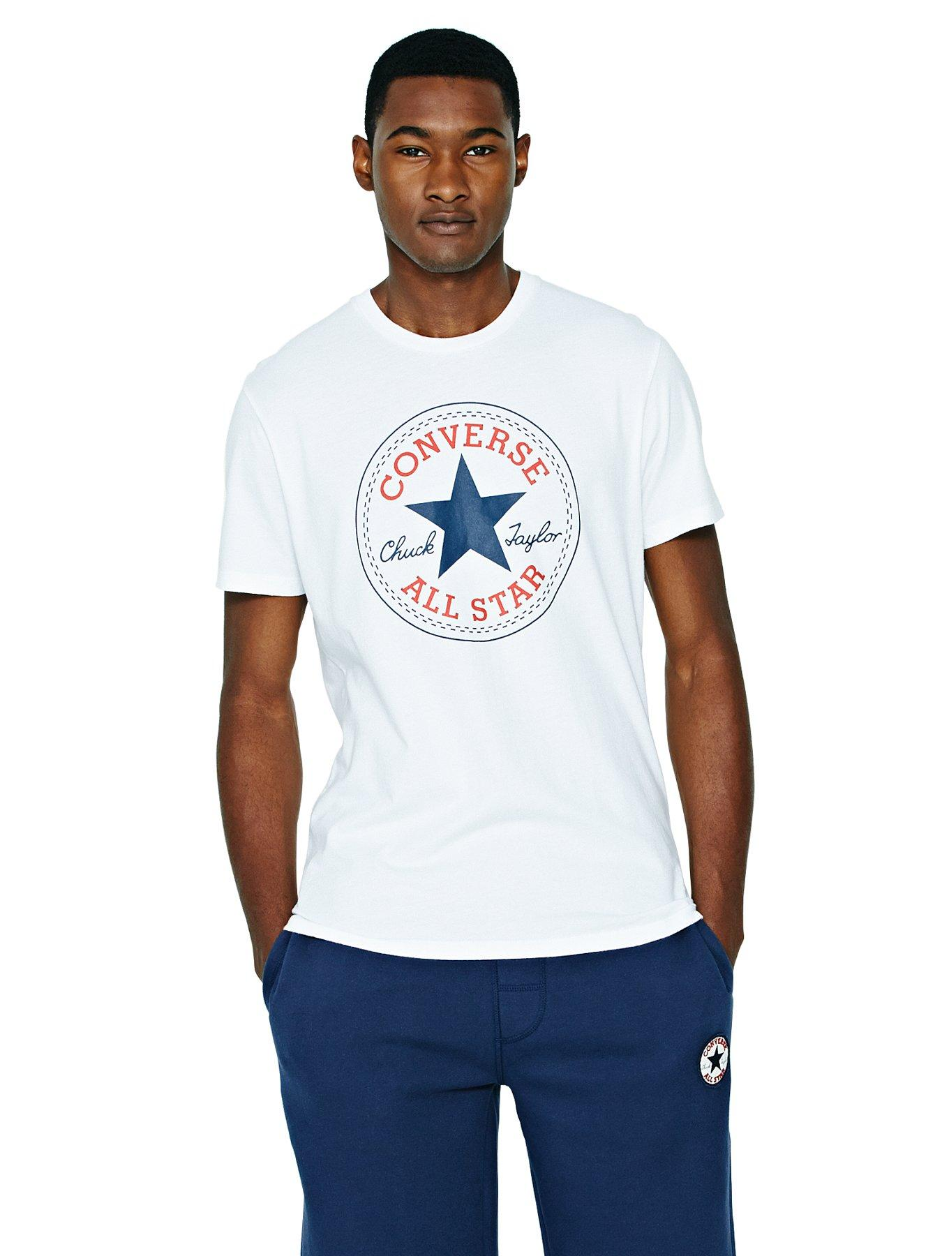 Converse Core Chuck Patch Mens T-shirt - White, Black,Grey,White,Navy