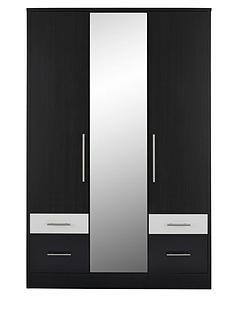 consort-eclipse-3-door-4-drawer-mirrored-wardrobe