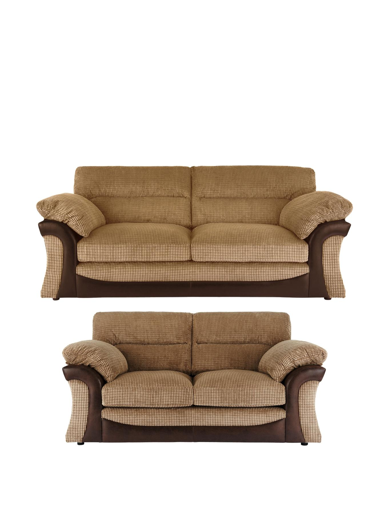 Rapide 3-Seater + 2-Seater Sofa Set - Chocolate, Chocolate,Charcoal at Very, from Littlewoods