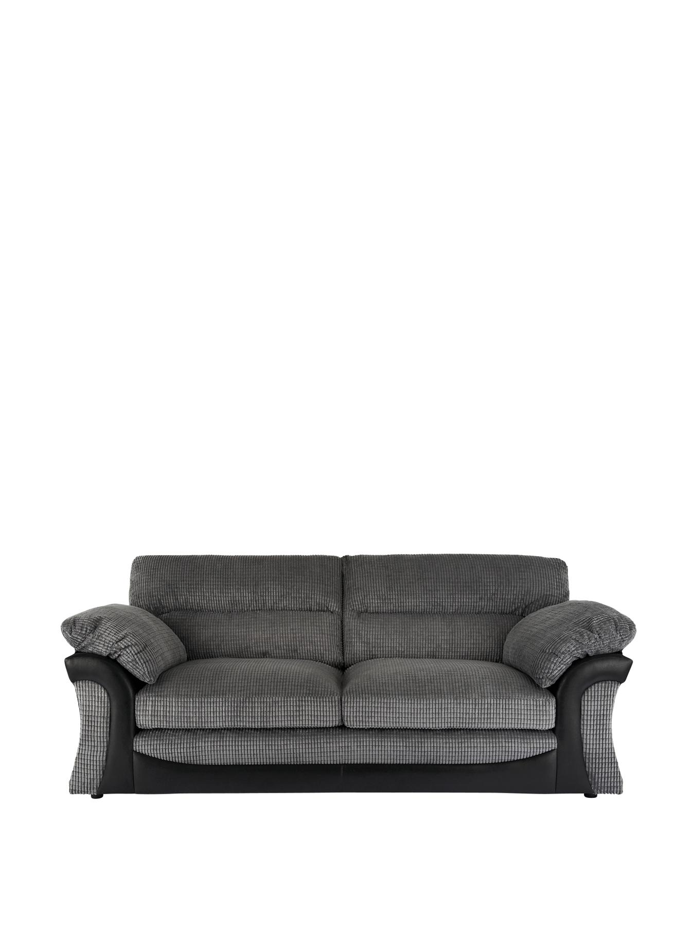Rapide 3-Seater Sofa - Chocolate, Chocolate,Charcoal at Very, from Littlewoods