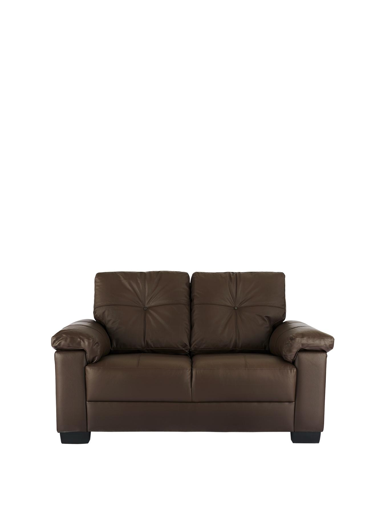 Alberta 2-Seater Sofa - Chocolate, Chocolate,Black