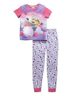minions-girls-fluffy-unicorns-pyjamas