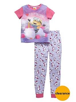 minions-girls-fluffy-unicorns-pyjamas