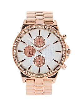 river-island-rose-gold-tone-embellished-bezel-ladies-watch