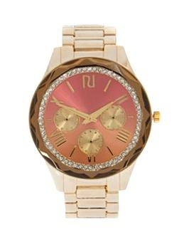river-island-gold-faceted-bezel-ladies-watch