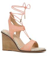Terisa Leather Ghillie Tie Wedge