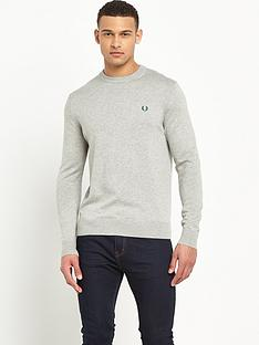 fred-perry-classic-cotton-crew-neck-jumper