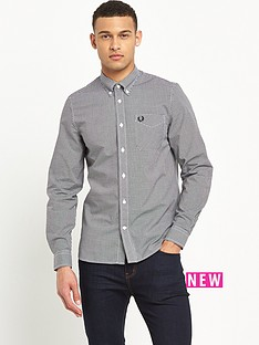 fred-perry-long-sleeved-classic-gingham-shirt