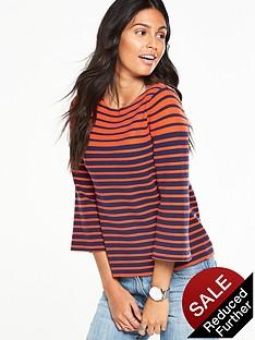 v-by-very-stripe-fluted-sleeve-boxy-jumpernbsp