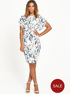 rochelle-humes-keyhole-front-printed-pencil-dress