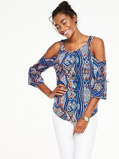 v-by-very-blouson-sleeve-cold-shoulder-topnbsp