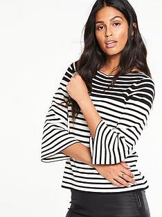 v-by-very-stripe-flare-sleeve-boxy-jumpernbsp