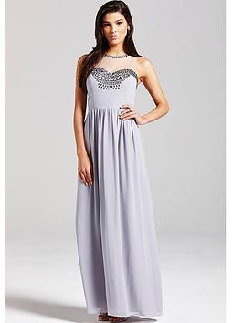 little-mistress-grey-embellished-mesh-maxi-dress