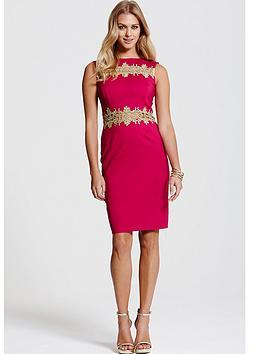 paper-dolls-gold-lace-trim-berry-dress