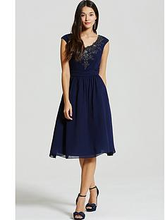 little-mistress-navy-embellished-fit-and-flare-dress