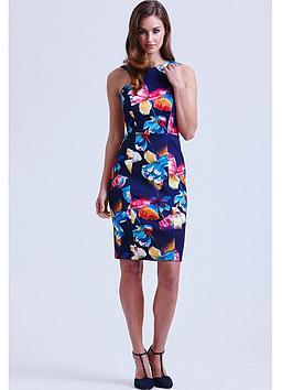 paper-dolls-navy-tropical-floral-v-back-dress