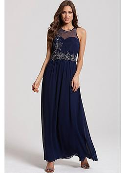 little-mistress-navy-and-silver-embellished-2-in-1-maxi-dress