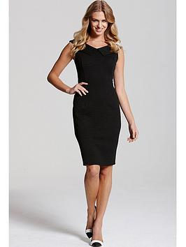paper-dolls-black-collar-bodycon-dress