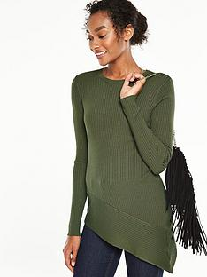 v-by-very-asymmetric-panelled-rib-jumpernbsp