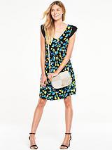 Petal Sleeve Jersey Tea Dress