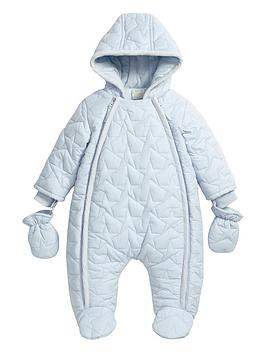 mamas-papas-baby-boys-quilted-pramsuit-with-hood-and-mitts
