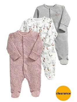 mamas-papas-baby-girls-deer-sleepsuitsnbsp3-pack