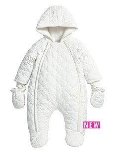 mamas-papas-baby-unisex-quilted-pramsuit-with-hood-and-mittens