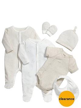 mamas-papas-baby-unisex-sleepsuit-and-bodysuit-gift-set-6-piece