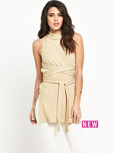 lavish-alice-rib-knit-open-back-wrap-tie-top