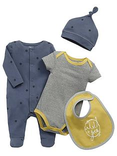 mamas-papas-baby-boys-sleepsuit-bodysuit-hat-and-bib-set-4-piece