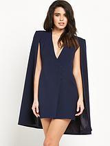 Split Back Cape Dress