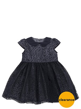 mamas-papas-baby-girls-flocked-spot-dressnbsp
