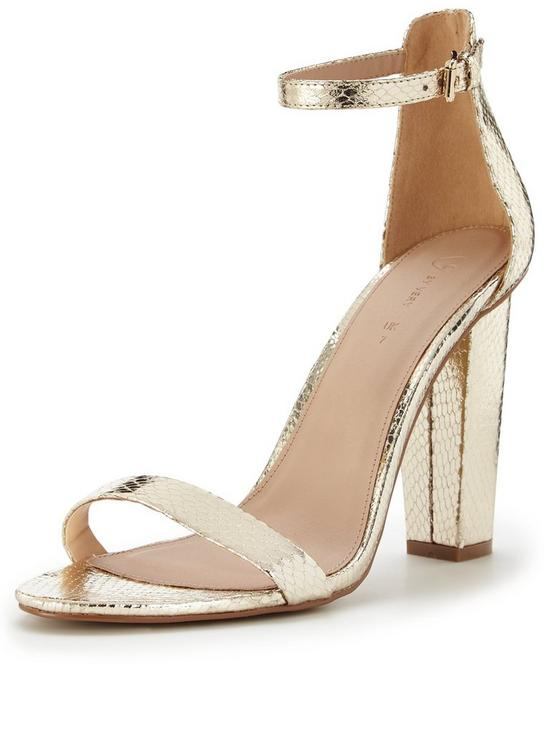 767ca128653 Petals Block Heel Sandal With Ankle Strap