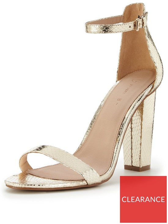 0e37a8393ddc V by Very Petals Block Heel Sandal With Ankle Strap