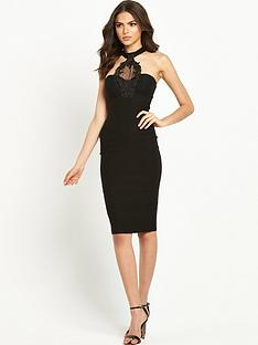 rare-keyhole-trim-midi-dress-black
