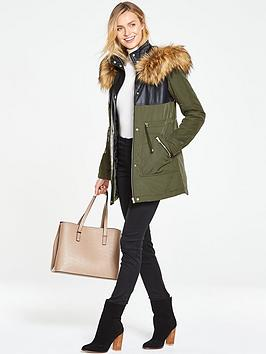 v-by-very-pu-fabric-mix-parka