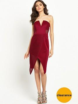 rare-textured-mesh-bardot-dress-wine