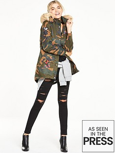 v-by-very-butterfly-badge-camouflage-parka