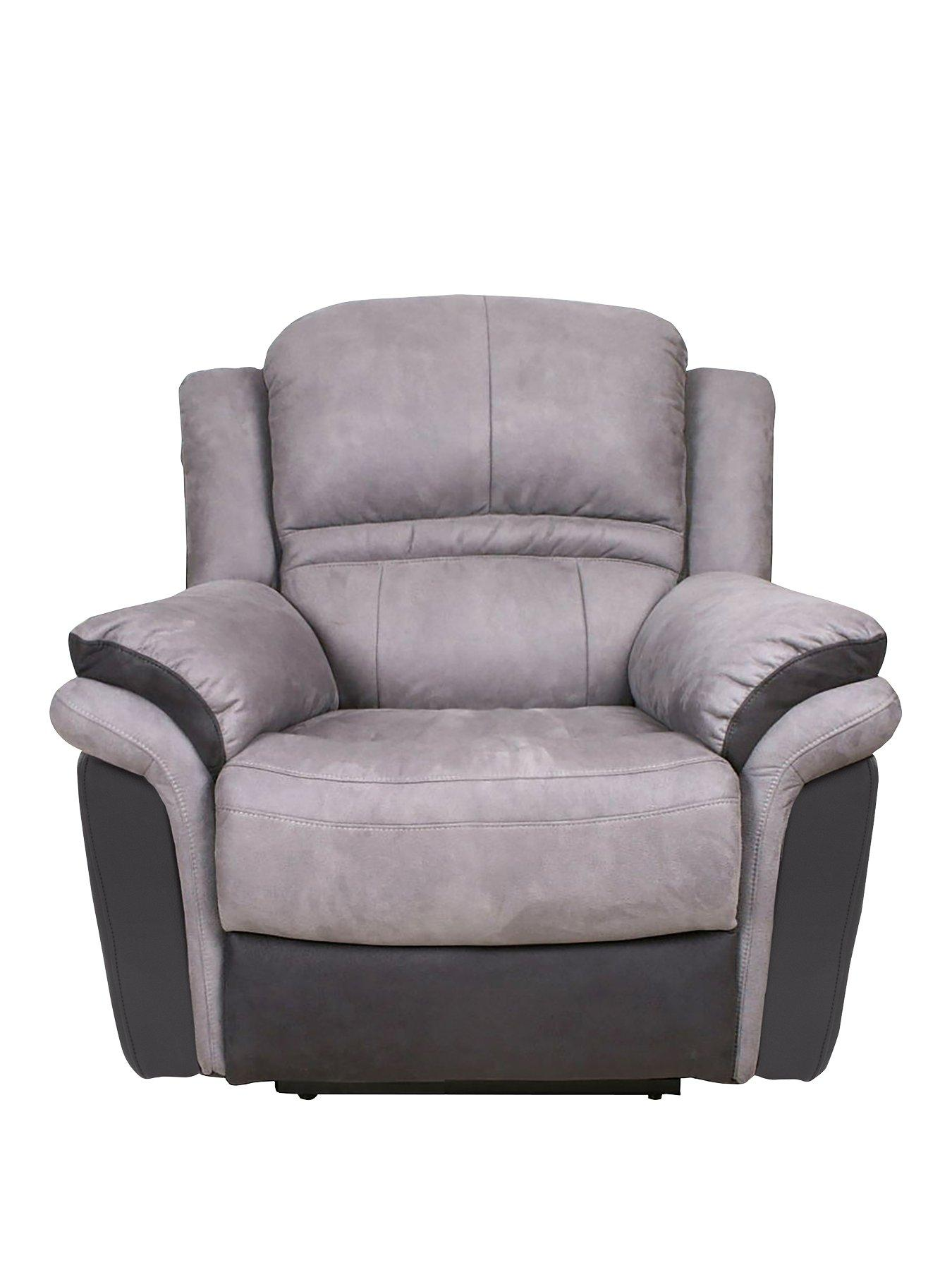 Petra Manual Recliner Armchair  sc 1 st  Very & Grey | Recliner | Armchairs | Chairs | Home u0026 garden | www.very.co.uk islam-shia.org