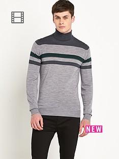 john-smedley-mens-merino-wool-stripe-detail-roll-neck-top