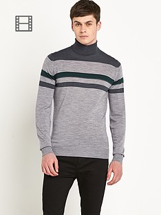 john-smedley-mens-merino-wool-stripe-detail-roll-neck-top
