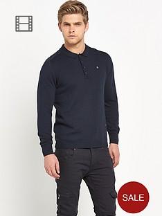 883-police-hudson-mens-long-sleeve-knitted-polo-shirt