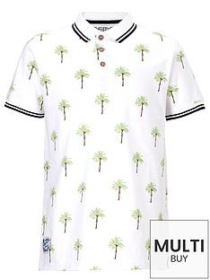 demo-short-sleeve-palm-print-polo-shirt